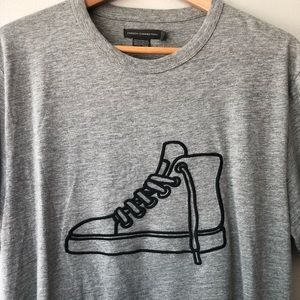 "French Connection Men's Gray ""USA Sneaker"" Tee NWT"